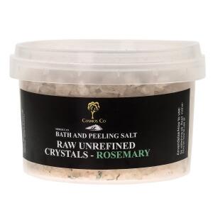 Salt med rosemary til saltskrub, salt peeling og saltbad